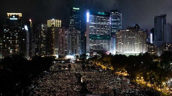 The annual candlelight vigil has been taking place in Hong Kong's Victoria Park since 1990. The vigil calls for the release of all dissidents, rehabilitation of the 1989 pro-democracy movement, accountability for the massacre, the end of one-party dictatorship and the start of a democratic China.