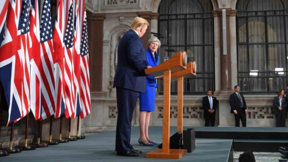 "Trump and May give a joint news conference on June 4. ""I think she"