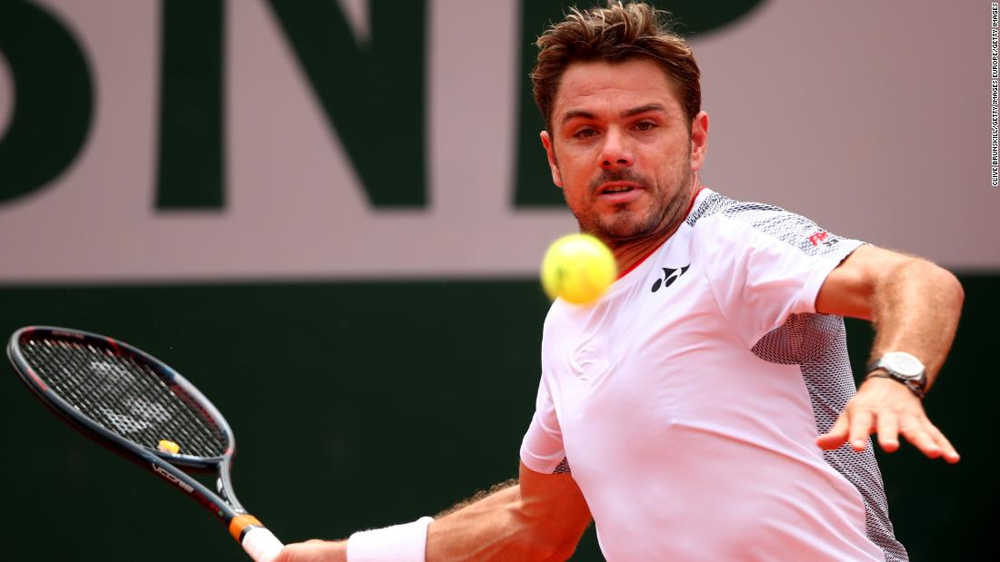 Wawrinka had his chance in the third set but couldn't hold on to a 4-3 break advantage.