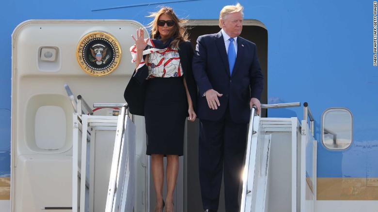 Trump compares Melania to iconic first lady