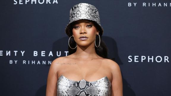 Rihanna attends the Fenty Beauty by Rihanna Anniversary Event in Sydney on October 3, 2018.