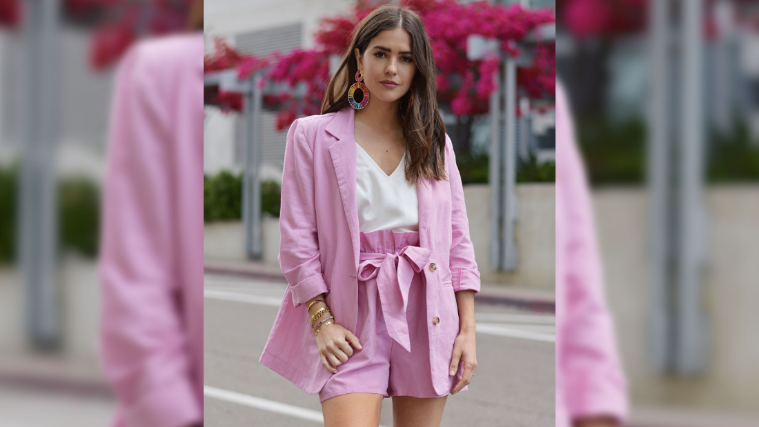 Influencer Paola Alberdi in an outfit from her Amazon collection.