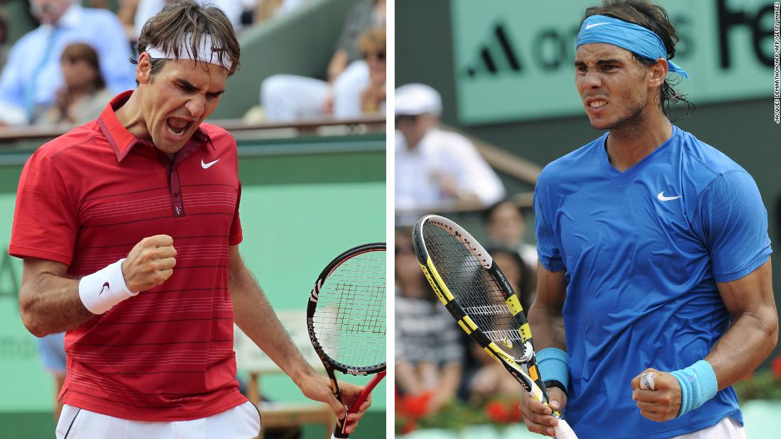 Roger Federer (left) and Rafael Nadal will meet at the French Open for the first time since the 2011 final.