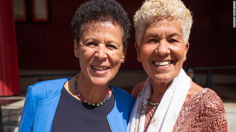 Deborah Prior and Carol Edwards grew up together at Holnicote House, and have remained friends.
