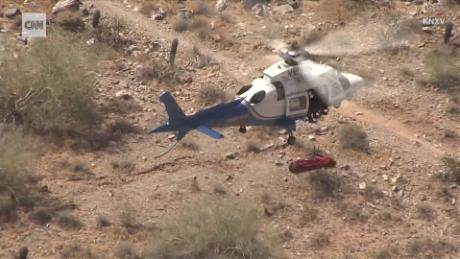 Watch a helicopter rescue go wildly off track