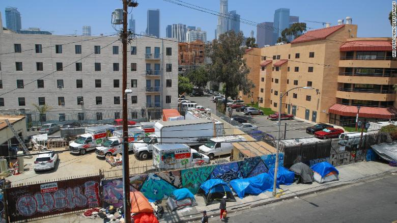 Los Angeles -- where the bulk of the county's homeless population resides -- saw a 16% rise in homelessness.