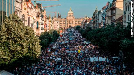 Protests against & # 39; Czech Trump & # 39; Protests against