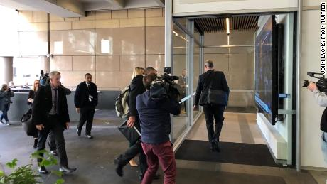 Police arrive at the offices of the Australian Broadcasting Corporation in Sydney.