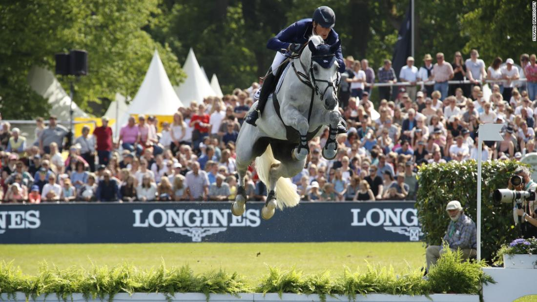Home favorite Daniel Deusser rode Jasmien v. Bisschop to victory in the Hamburg leg of the Longines Global Champions Tour.