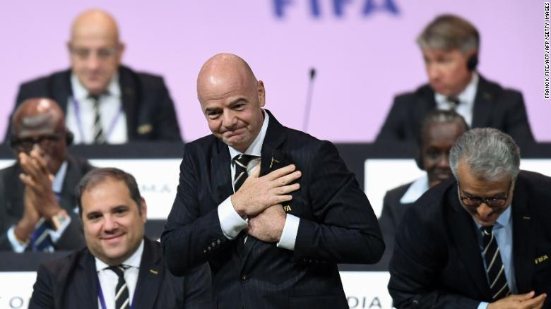 Infantino was reelected as FIFA president in Paris.