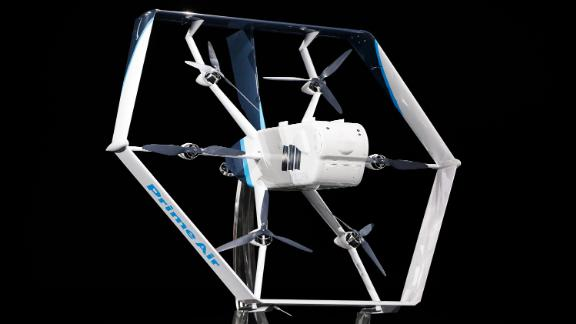 Amazon's latest delivery drone was announced at the re:MARS event in Las Vegas.