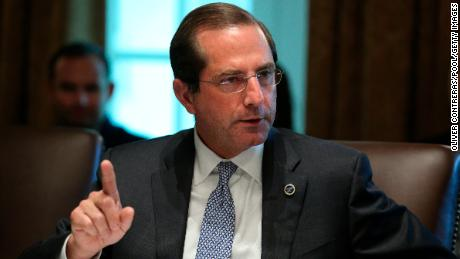 WASHINGTON, DC - AUGUST 16: Secretary of Health and Humans Services, Alex Azar speaks during a cabinet meeting in the Cabinet Room of the White House on August 16, 2018 in Washington, DC. (Photo by Oliver Contreras-Pool/Getty Images)