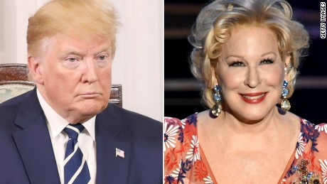 Donald Trump and Bette Midler