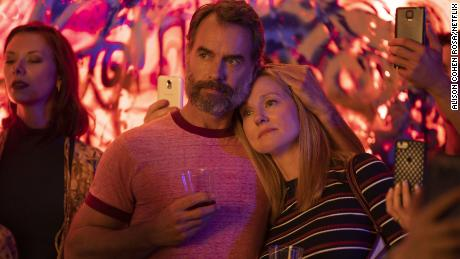 """Murray Bartlett and Laura Linney in a scene from Netflix's """"Armistead Maupin's Tales f the City."""""""
