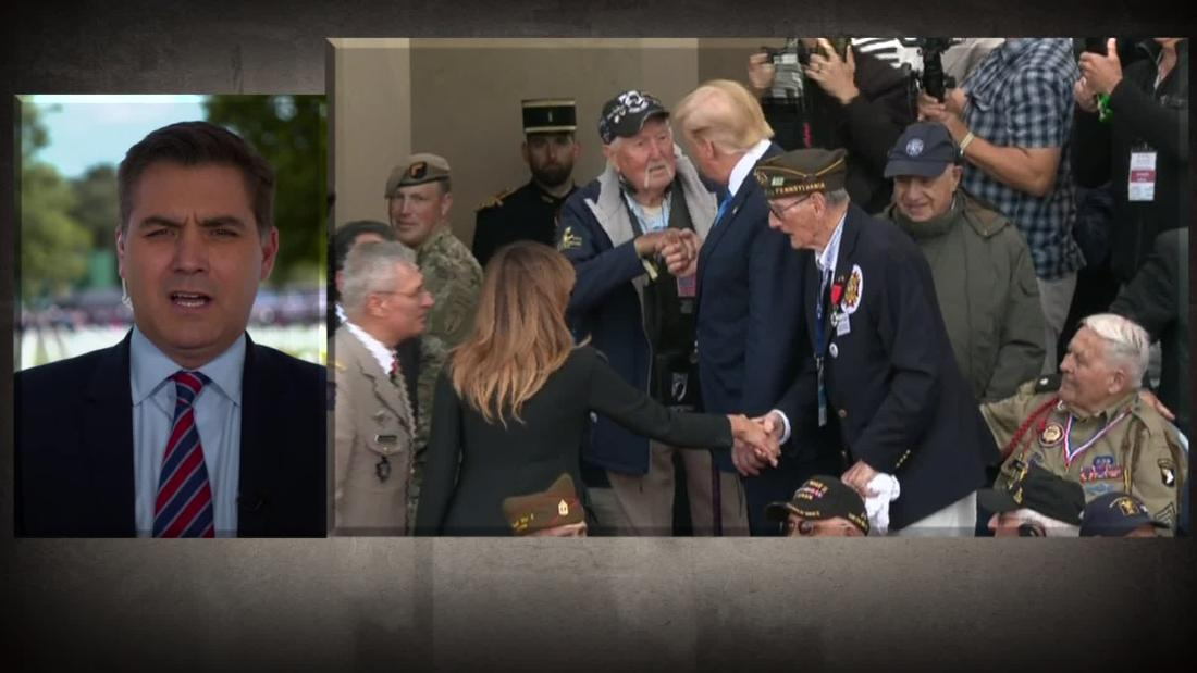 Jim Acosta commends Trump's D-Day message