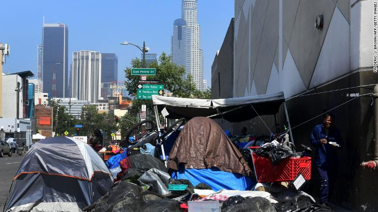 Streets full of tents: The other side of L A