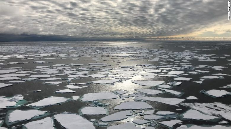 Arctic ice faces trouble from above and below