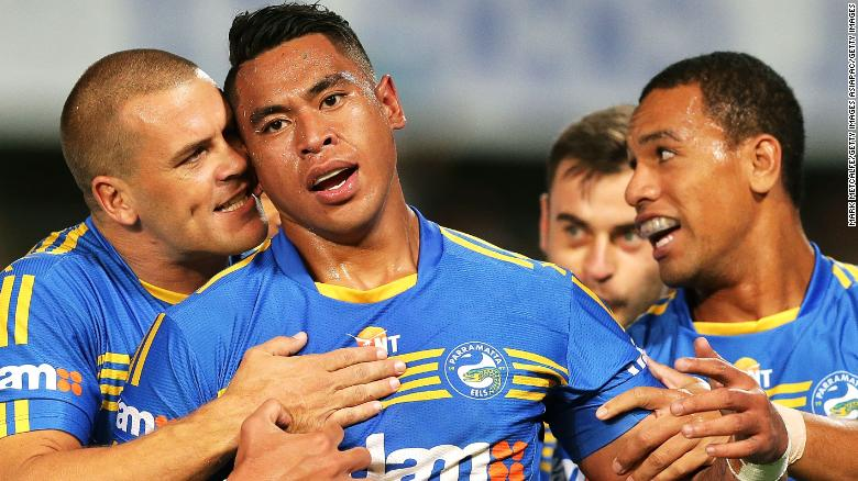 John Folau made eight appearances for the Parramatta Eels in the NRL last year.