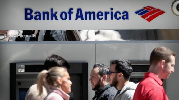 CHICAGO, ILLINOIS - APRIL 09: A sign hangs above an ATM machine outside of a Bank of America branch in the Loop on April 09, 2019 in Chicago, Illinois. The banking giant has announced that it will be raising the minimum wage for for its employees to $20-per-hour in increments over the next two years, beginning with a jump to $17-per-hour on May 1.   (Photo by Scott Olson/Getty Images)