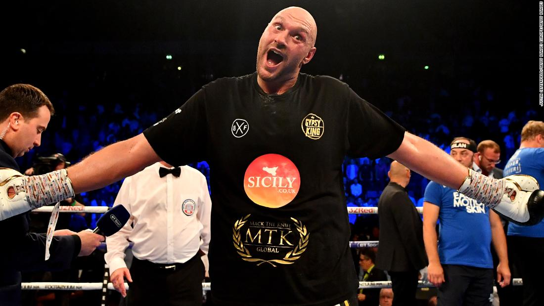 Tyson Fury announces rematch with Deontay Wilder