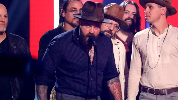 The Zac Brown Band accept the award for group video of the year at the CMT Music Awards on June 5 in Nashville, Tennessee.