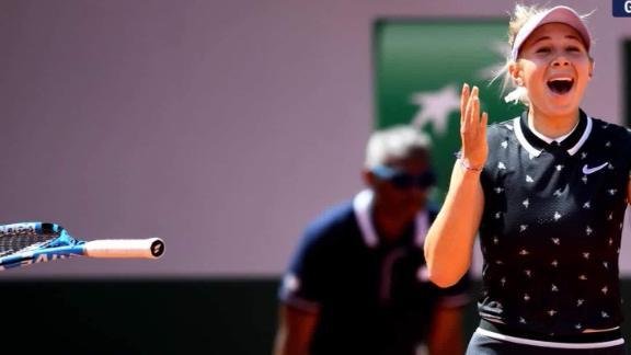 Teen Amanda Anisimova French Open semifinals vpx_00000027.jpg