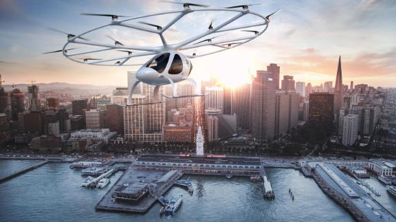 """""""It's just phenomenal because this is going to revolutionize the way we move and it's going to decongest cities as well because we can quite easily use the airspace much more."""""""
