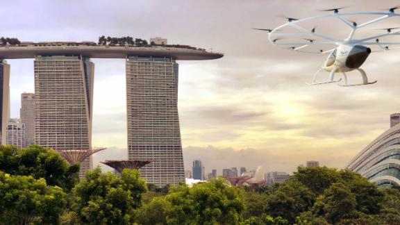 Eventually, the Volocopter will become fully autonomous, which will greatly reduce cost and make it just as cheap as a regular taxi, the company says.