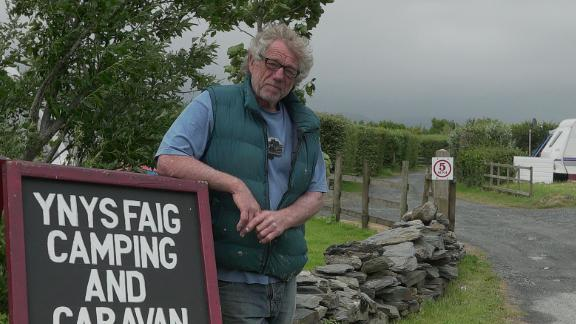 Stuart Eves, a resident of Fairbourne since 1976, runs a camp site in the coastal village.