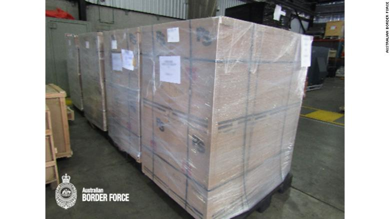 The speakers were packaged and sealed in a cargo shipment.