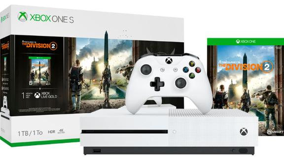 """Along with the regular console and controller, you'll get a copy of The Division 2. <br /><strong>Tom Clancy's The Divison 2 Xbox One S 1TB Bundle ($249, originally $299; </strong><a href=""""https://click.linksynergy.com/deeplink?id=Fr/49/7rhGg&mid=24542&u1=0607xboxe32019&murl=https%3A%2F%2Fwww.microsoft.com%2Fen-us%2Fp%2Fxbox-one-s-1tb-console-tom-clancys-the-division-2-bundle%2F8v96cwst1k22%3Fcid%3Dmsft_web_collection%26activetab%3Dpivot%253aoverviewtab"""" target=""""_blank"""" target=""""_blank""""><strong>microsoft.com</strong></a><strong>)</strong><br />"""