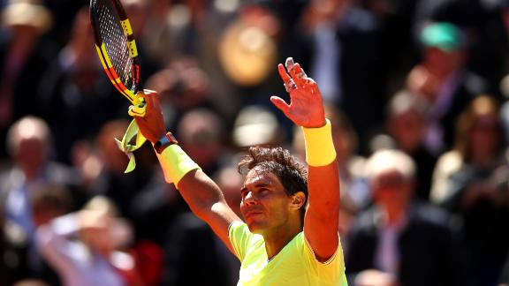 Rafael Nadal reached his 12th French Open final in Paris.
