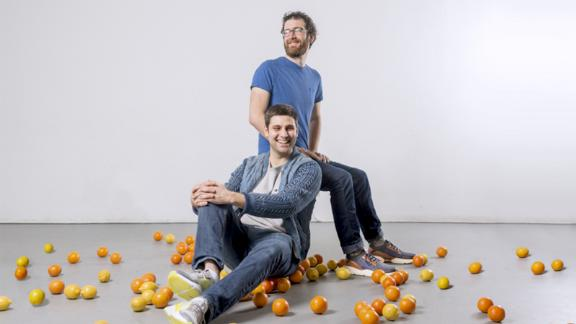 Ben Simon [in front] and Ben Chesler, founders of Imperfect Produce.