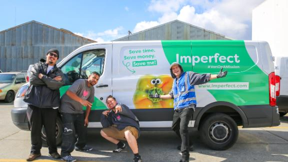 Imperfect Produce opreates a fleet of 400 delivery vans to transport its produce and groceries.