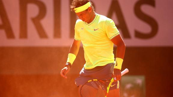 The semifinal took place in extremely windy conditions, causing havoc when the ball was in the air. Nadal in particular handled the conditions better.