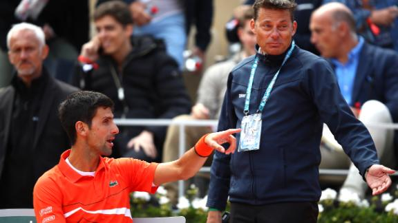 Novak Djokovic wanted play halted in the first set of his semifinal against Dominic Thiem due to the playing conditions but his request was denied.