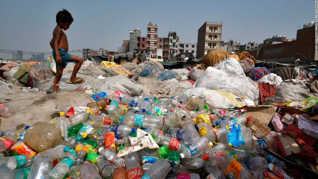 India's trash mountains are a fetid symbol of the country's plastic problem