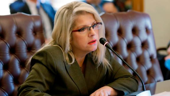 Former Arkansas state Sen. Linda Collins-Smith at the state Capitol in Little Rock in 2015.