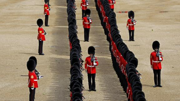 The Parade moves from Buckingham Palace and down the Mall to Horse Guard's Parade in Whitehall.