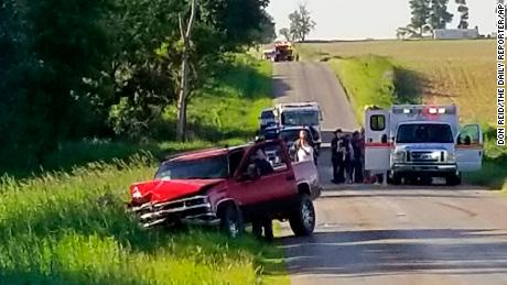 A pickup truck and an Amish horse-drawn carriage were involved in a collision near Algansee Township, Michigan, on Friday.