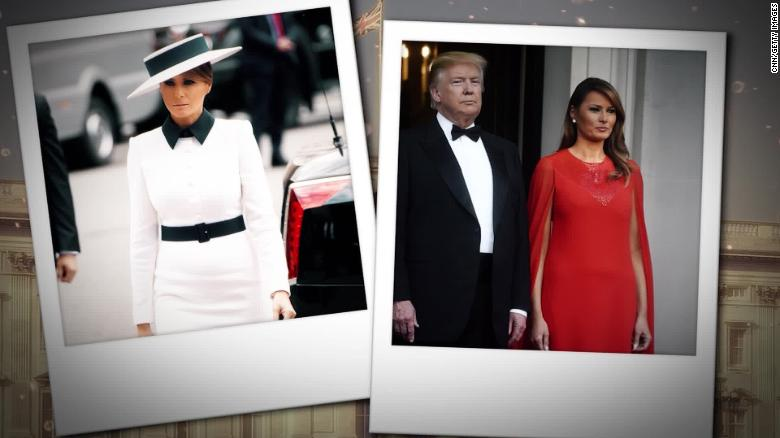 11a9b42fd7 Melania Trump mostly silent in Europe but fashion seen - CNNPolitics