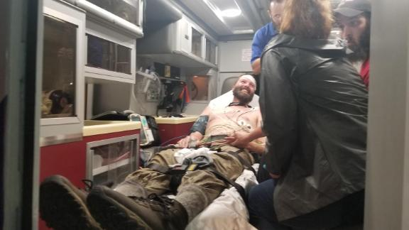 McClatchy was found on Friday night after searchers spotted his flashlight.