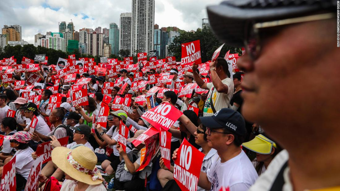 Mass protest in Hong Kong over law critics fear could allow China to snatch anyone