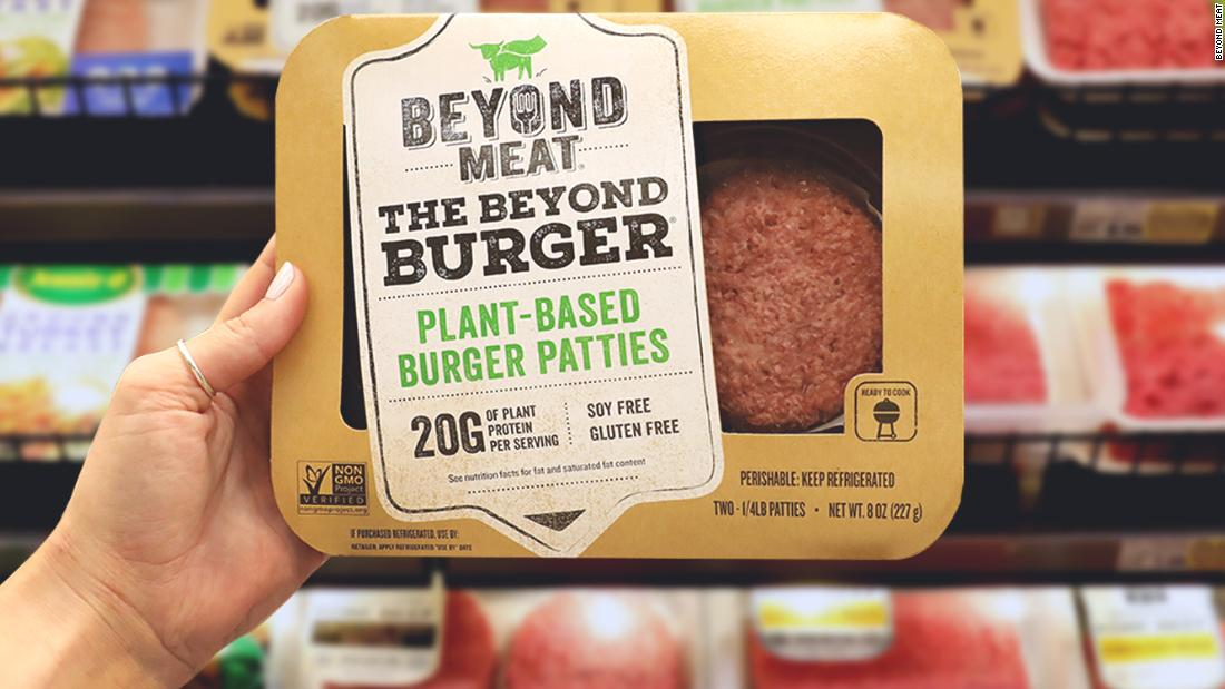 Beyond Meat makes plant-based meat alternatives. Its burgers have been trialled by McDonald's, and Dunkin' Donuts sells a breakfast sandwich featuring Beyond Meat's meatless sausage.