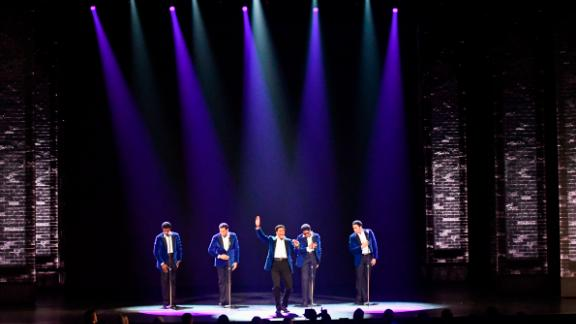"""The cast of """"Ain't Too Proud - The Life and Times of The Temptations"""" performs during the Tony Awards."""