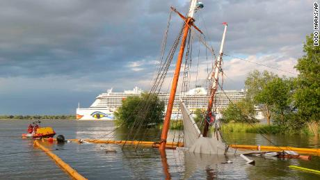 Newly restored historic sailing ship crashes and sinks days after relaunch