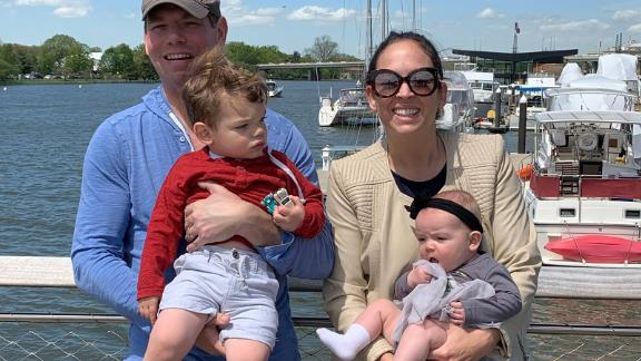 Swalwell with his wife, Brittany, and their two children, Nelson and Kathryn.