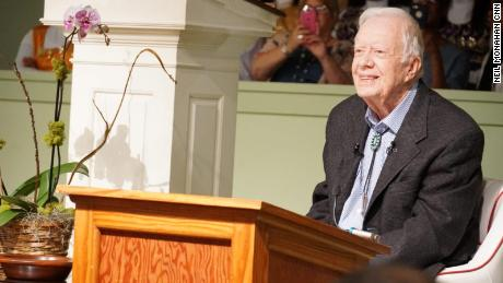 Carter has taught Sunday School for years in his hometown of Plains, Georgia.