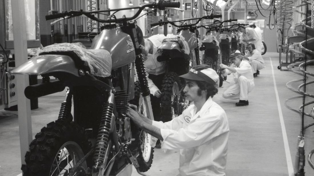 Production began at Honda's Marysville motorcycle plant on September 10, 1979. The CR250R motocross bike was the very first model to be built.