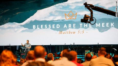 David Platt, pastor at McLean Bible Church in Virginia, speaks at the Pastor's Conference at the Southern Baptist Convention on Monday in Birmingham.